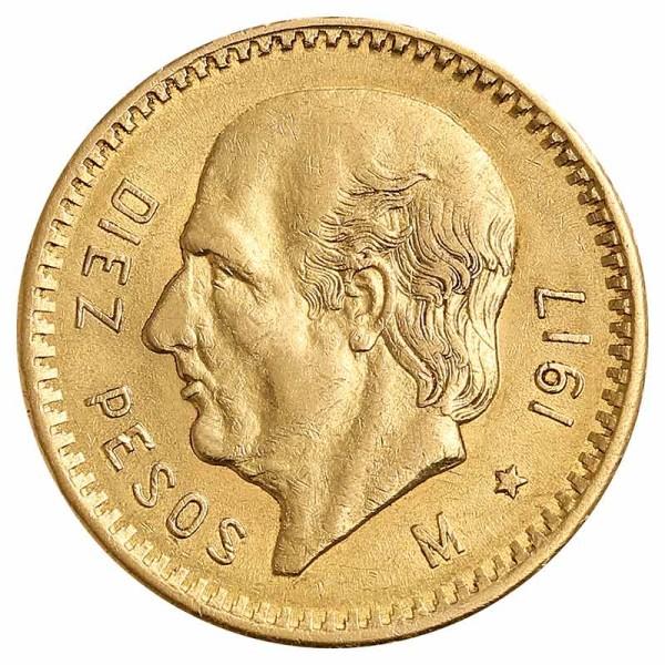 10 Pesos Goldmünze - Mexiko - Vorderseite | Beispielbild