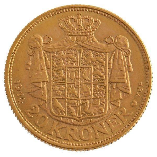 Goldmünze 20 Kronen Dänemark