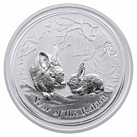 1 Unze Year of the Rabbit - Hase Silbermünze Lunar 2 - Australien - Vorderseite