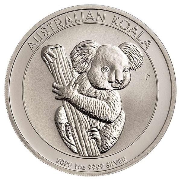 Silbermünze - Koala 1 Unze - Australien - Vorderseite