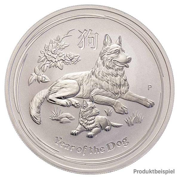 Hund Silber 1 Unze