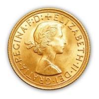 Goldmünze - 1 Sovereign - Großbritannien - Vorderseite | Beispielbild