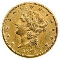 20 US-Dollar Liberty Goldmünze 1 Unze - USA - Rückseite
