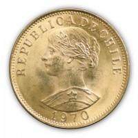 Goldmünze - 20 Pesos - Chile | Beispielbild
