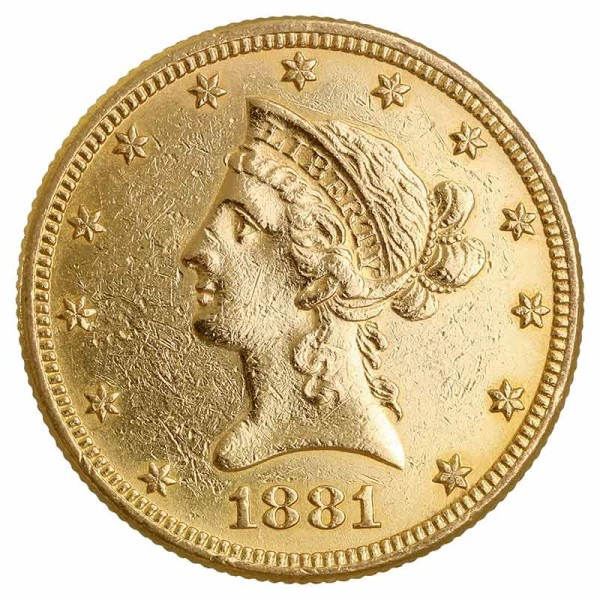 10$ US-Dollar Liberty Head Goldmünze - USA - Rückseite