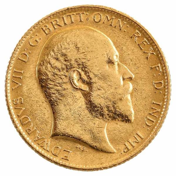 1/2 Sovereign Goldmünze - Großbritannien - Vorderseite | Beispielbild