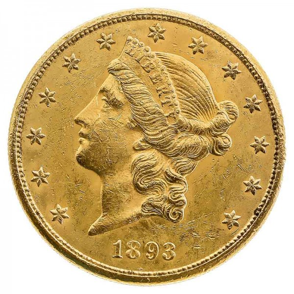 20 US-Dollar Liberty Goldmünze 1 Unze - USA - Rückseite