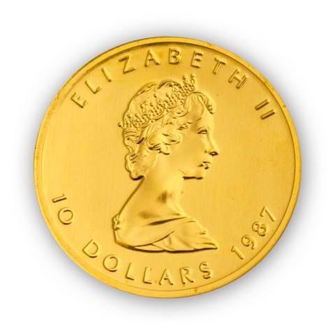 Goldmünze Maple Leaf Kanada 1/4 Unze   Beispiel