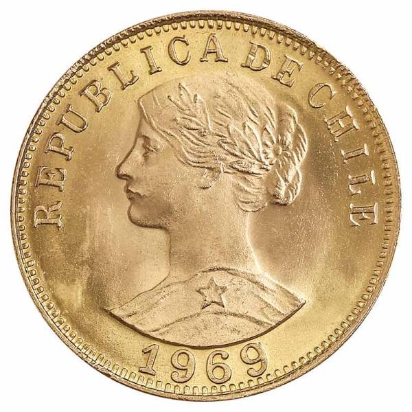 50 Pesos Goldmünze - Chile - Rückseite