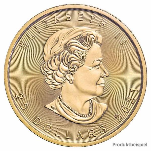 Goldmünze Maple Leaf Kanada 1/2 Unze   Beispiel
