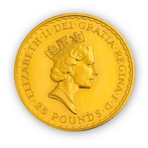 Goldmünze - Britannia 1/4 Unze - Großbritannien