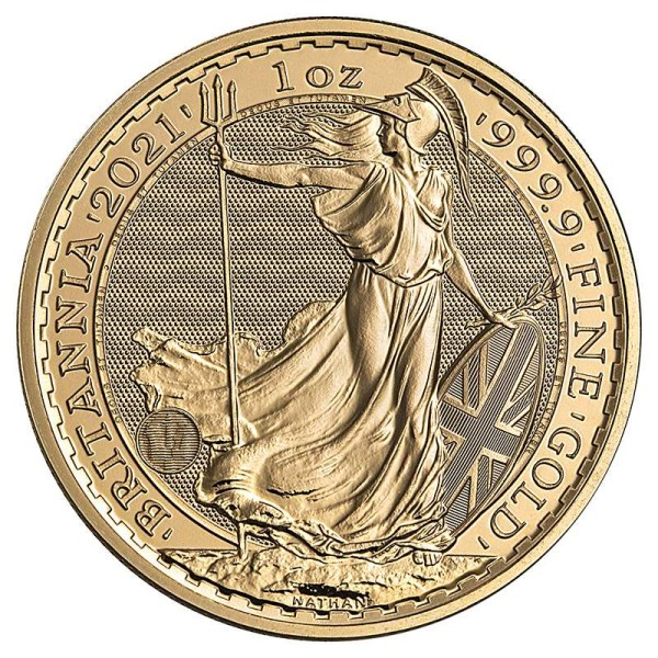 Goldmünze - Britannia 1 Unze - Großbritannien - Vorderseite