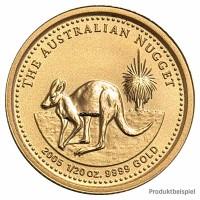Goldmünze - Kangaroo 1/20 Unze - Australien - Rückseite   Beispielabbildung