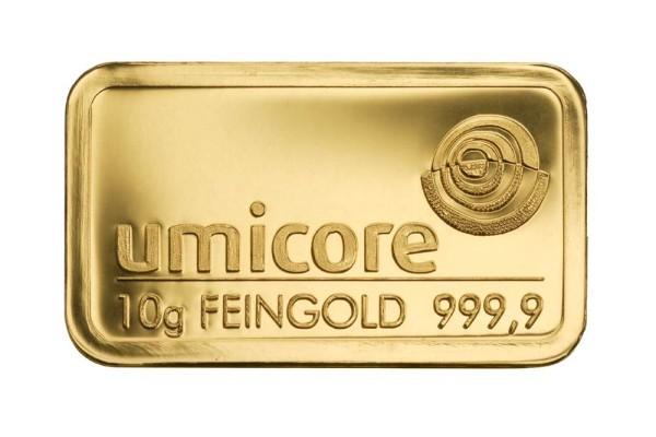 Goldbarren 10 Gramm Feingold | Beispielbild